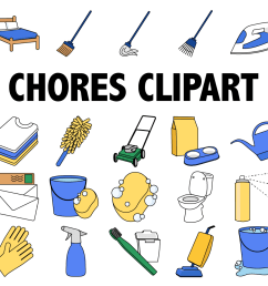 chores clipart example image 1 [ 1501 x 1001 Pixel ]