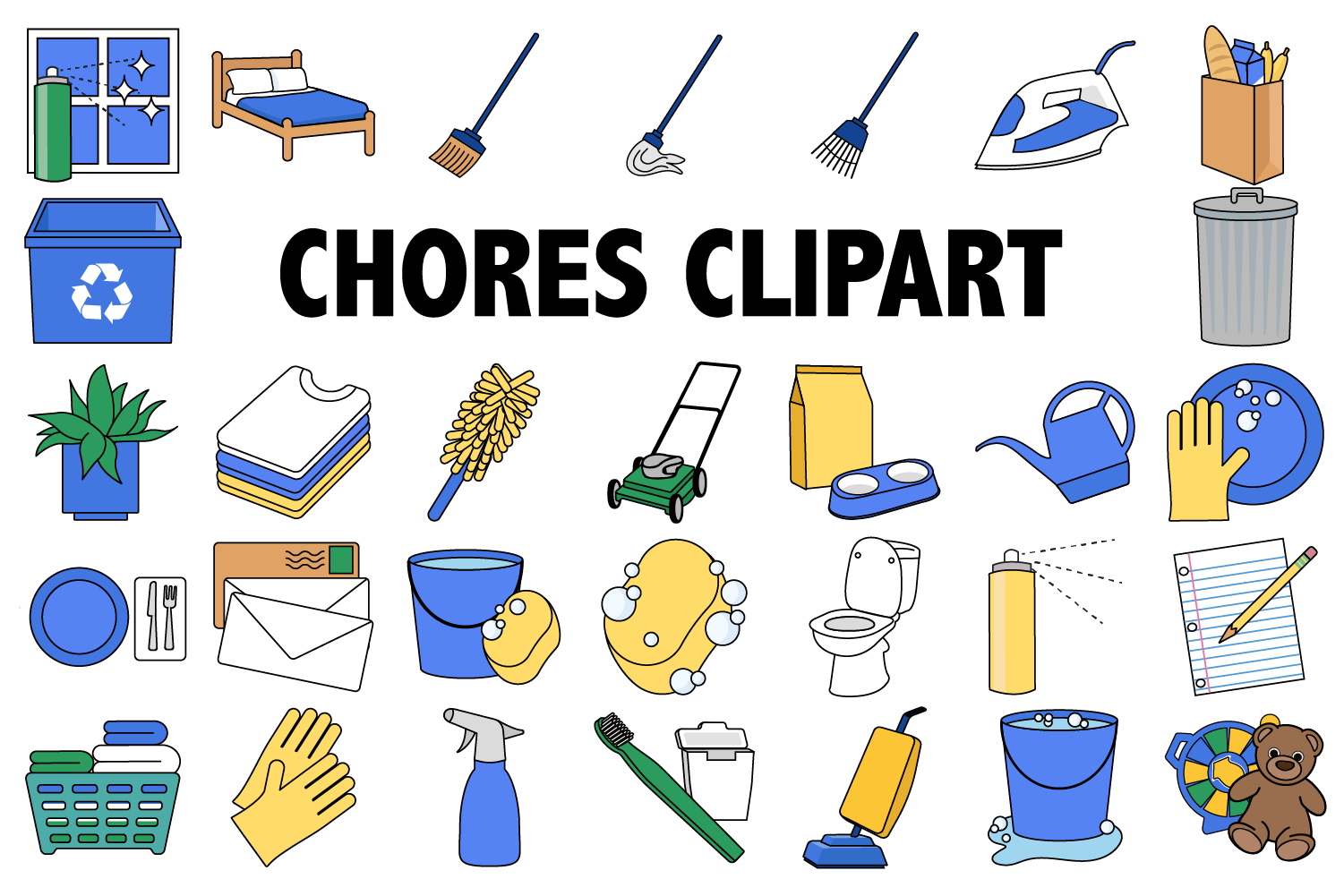 hight resolution of chores clipart example image 1