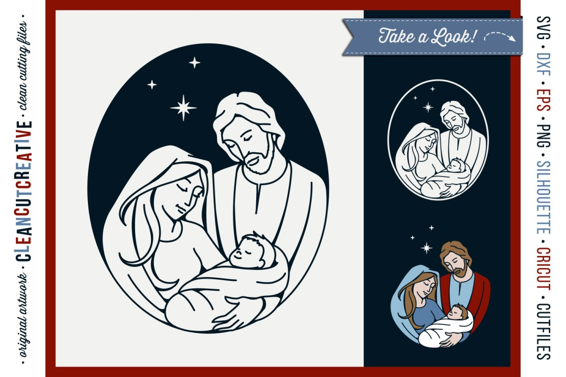 Download Christmas Nativity Design - Holy Family - Baby Jesus SVG