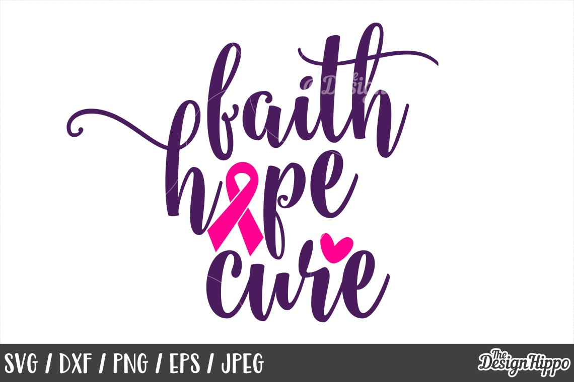 Download Breast Cancer, SVG, Awareness, Faith Hope Cure, Ribbon ...