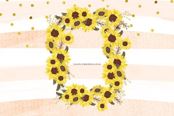 sunflower pumpkin clip art set