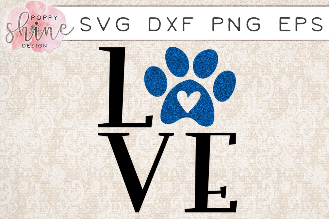 Download Love Paw Print SVG PNG EPS DXF Cutting Files