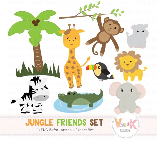 small resolution of safari jungle animals clip art african animals clipart jungle clipart baby animals