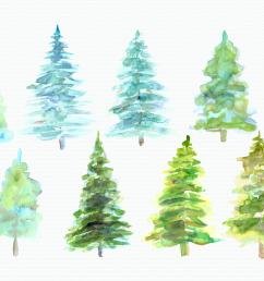 watercolor pine trees clip art example image 2 [ 1160 x 772 Pixel ]