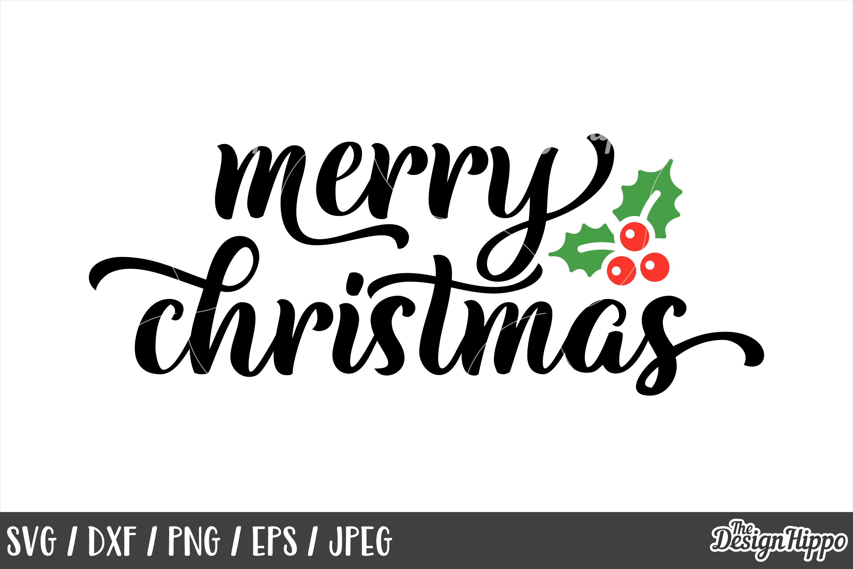 Merry Christmas Svg Mistletoe Dxf Cricut Cut Files