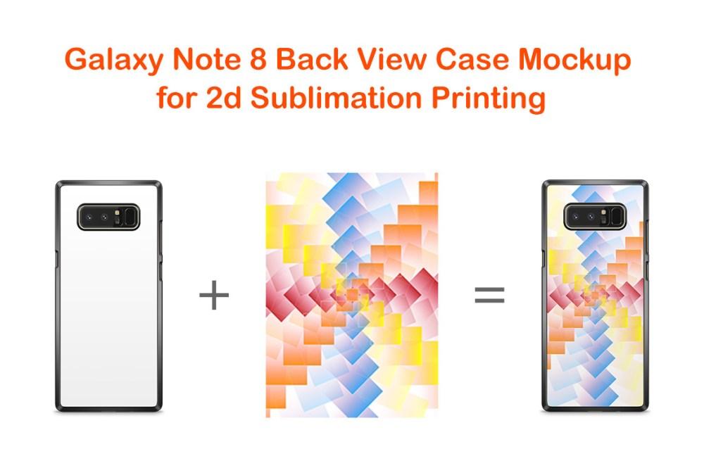medium resolution of samsung galaxy note 8 2dcase mockup back example image 2
