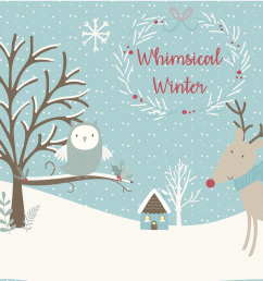 sale now only 4 whimsical winter clipart and paper set example image 1 [ 2417 x 1609 Pixel ]