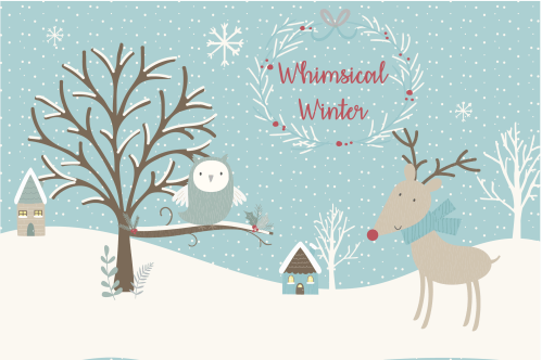 small resolution of sale now only 4 whimsical winter clipart and paper set example image 1