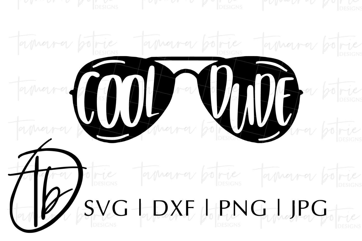 Cool Dude SVG, Dude SVG, Sunglasses SVG, Aviator Glasses SVG
