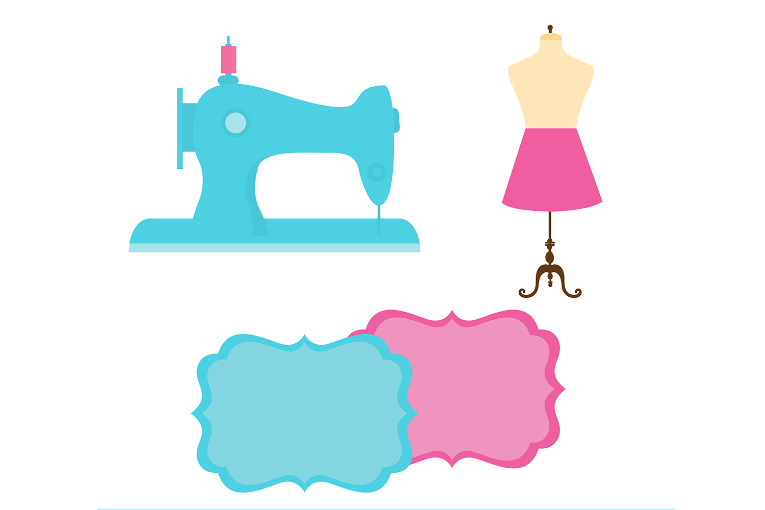 hight resolution of sewing digital paper sewing machine thread background seamstress background fashion background