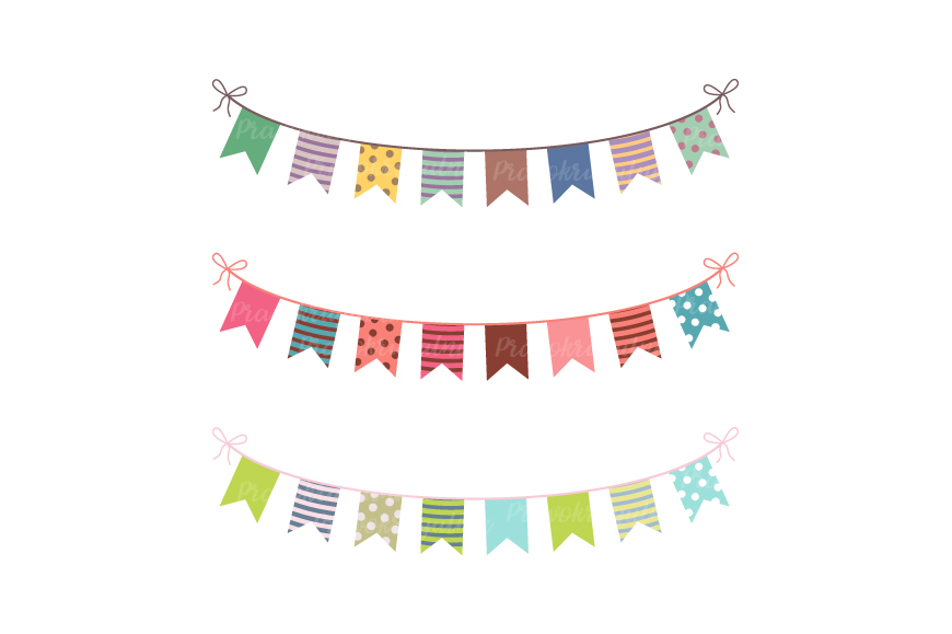 party bunting clipart colorful