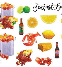 seafood low country boil watercolor clipart example image 2 [ 1453 x 969 Pixel ]