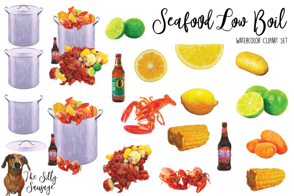 medium resolution of seafood low country boil watercolor clipart example image 2