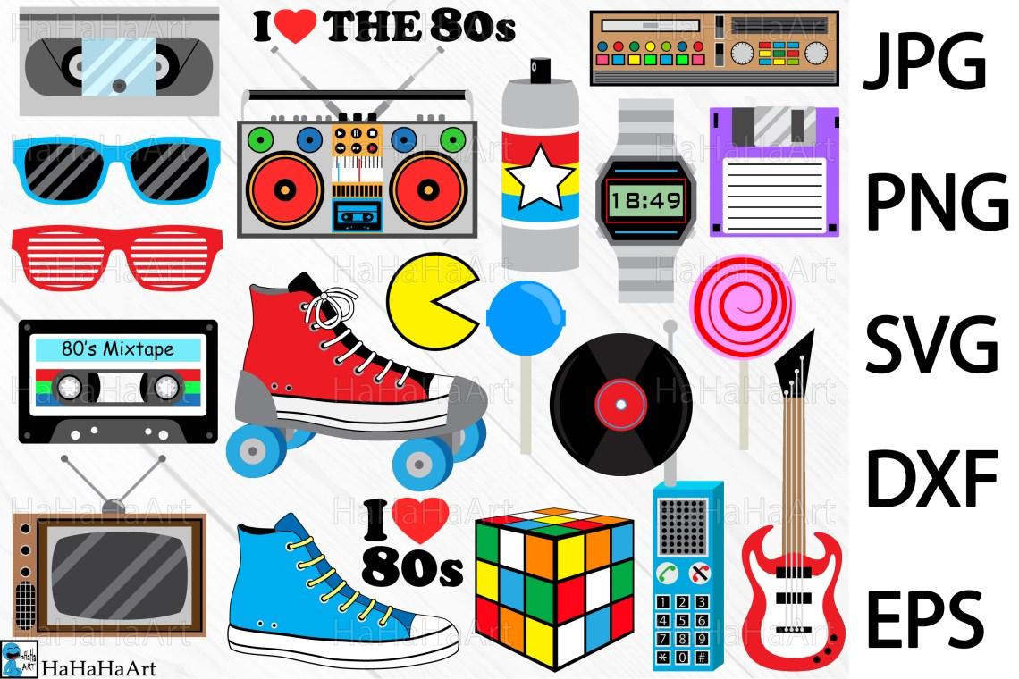 Download I Love The 80s Designs - Clip art / Cutting Files 98c