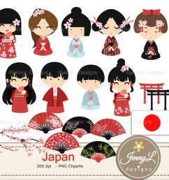 japan digital papers and japanese clipart set example image 2 [ 1160 x 772 Pixel ]
