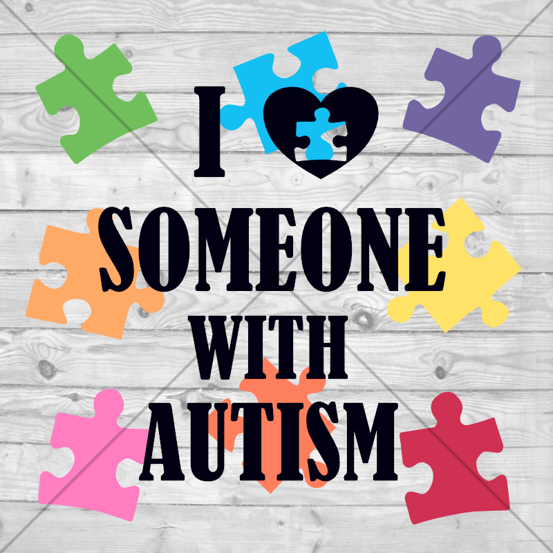 Download I Love Someone With Autism SVG Cut File