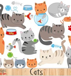 cute cat clipart example image 1 [ 1813 x 1206 Pixel ]