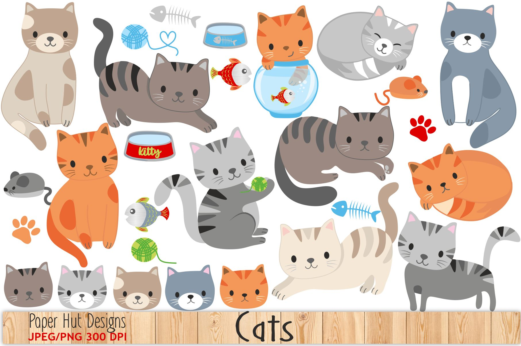 hight resolution of cute cat clipart example image 1