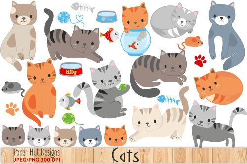 small resolution of cute cat clipart example image 1