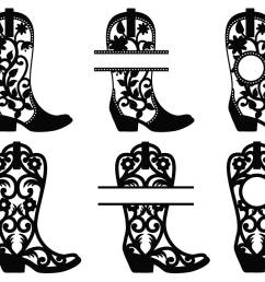 cowgirl boots svg cowboy boots monogram frames western svg example image 2 [ 1125 x 750 Pixel ]