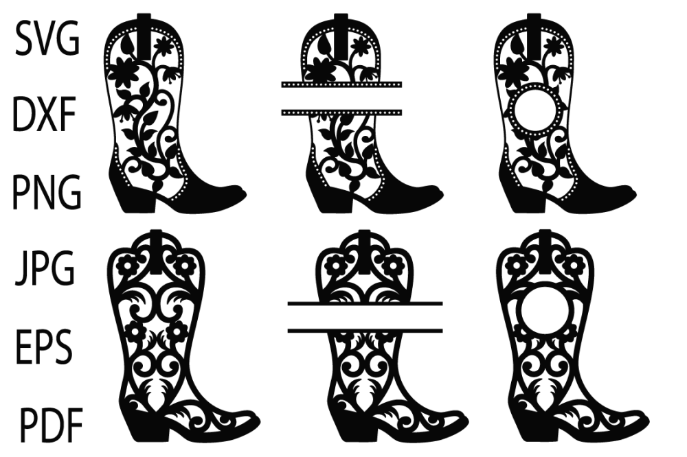 medium resolution of cowgirl boots svg cowboy boots monogram frames western svg example image 2