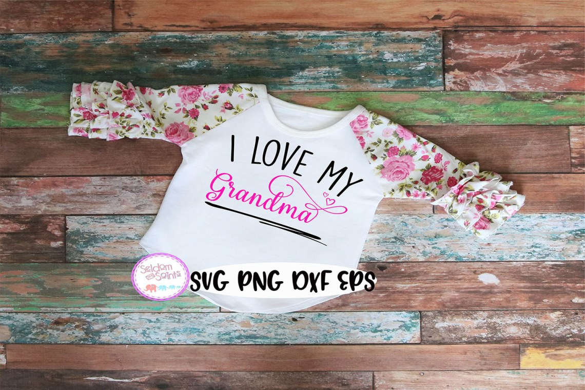 Download I Love My Grandma SVG PNG EPS DXF