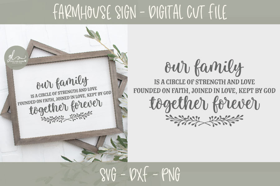 Download Our Family Is A Circle Of Strength And Love - SVG, DXF & PNG