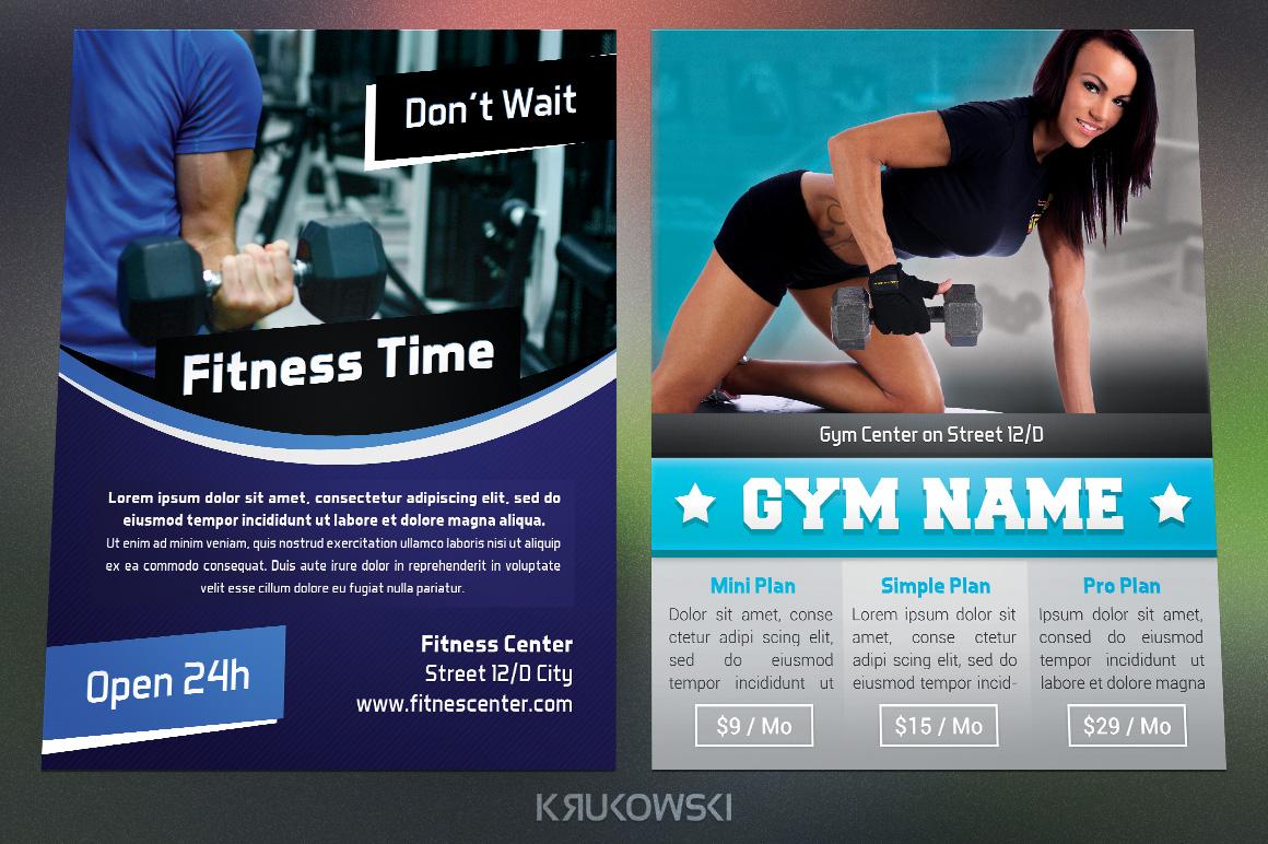 Gym Fitness Flyers Bundle by Krukowski   Design Bundles