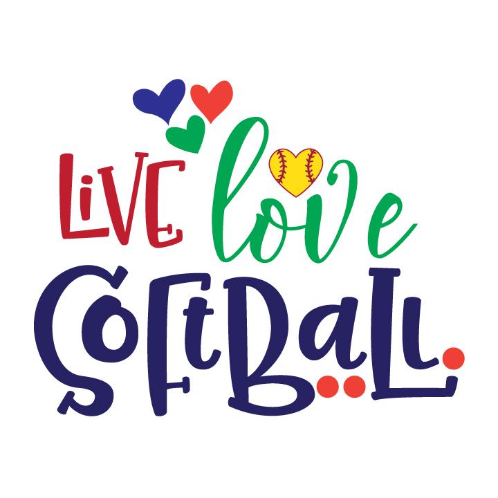 Download Live Love Softball (31193) | SVGs | Design Bundles