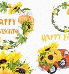 sunflower clipart sunflower wreaths thanksgiving clipart example image 1 [ 1162 x 775 Pixel ]