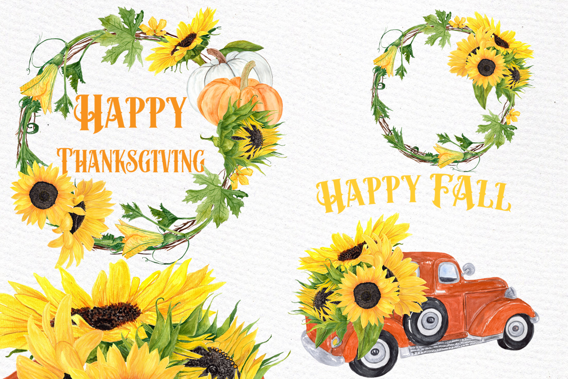 hight resolution of sunflower clipart sunflower wreaths thanksgiving clipart example image 1