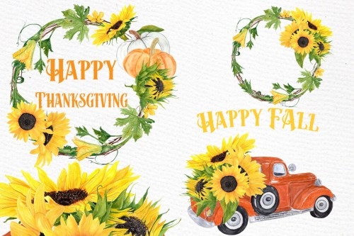 small resolution of sunflower clipart sunflower wreaths thanksgiving clipart example image 1