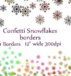 snowflake confetti clipart example image 1 [ 4500 x 3000 Pixel ]