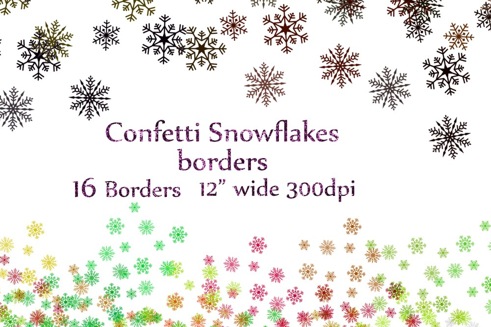 medium resolution of snowflake confetti clipart example image 1