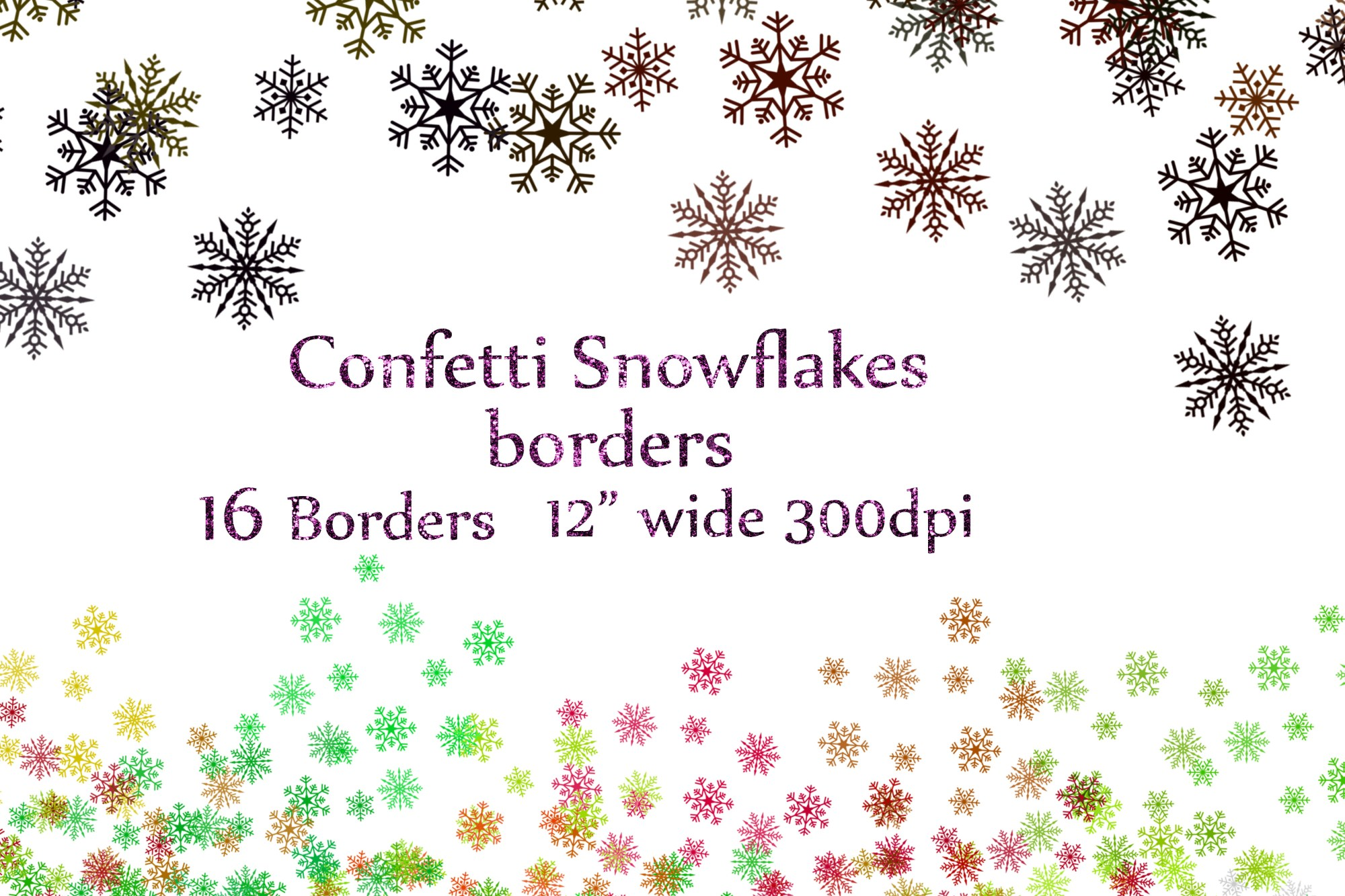 hight resolution of snowflake confetti clipart example image 1
