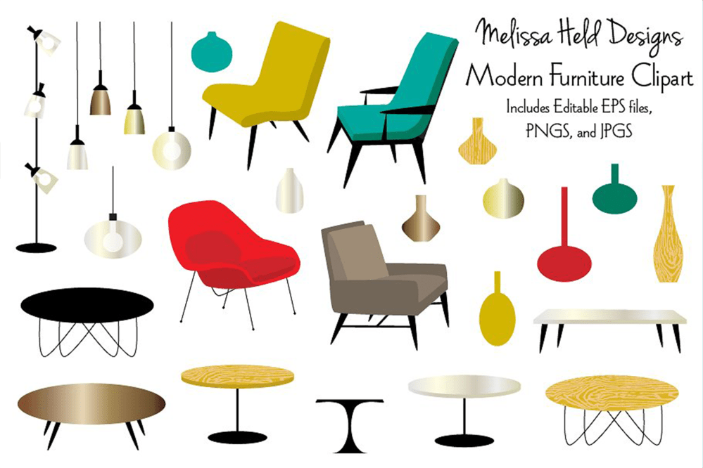 medium resolution of modern furniture clipart example image 1