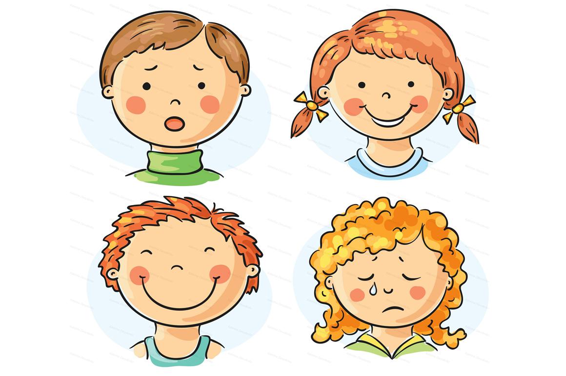 Kids Emotions Bundle Children With Various Emotion