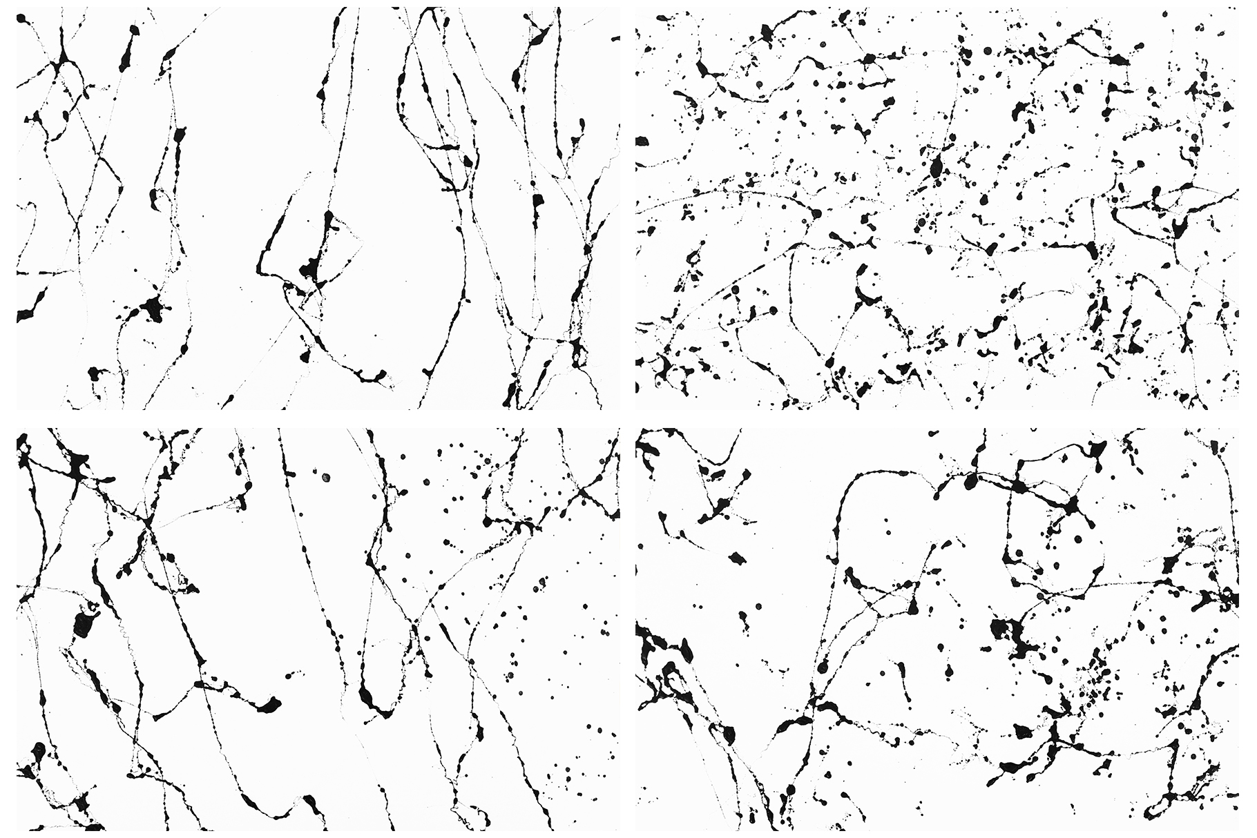 Black White Marble Backgrounds, Black Veins Marble Textures