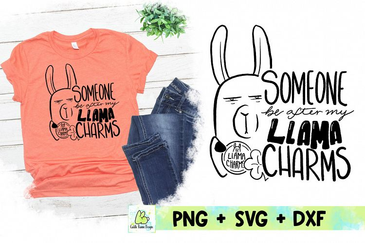 Download Lucky Llama Charms| Handwritten St Patrick's Day SVG