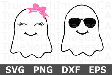 ghost svg halloween boy cut file svgs message