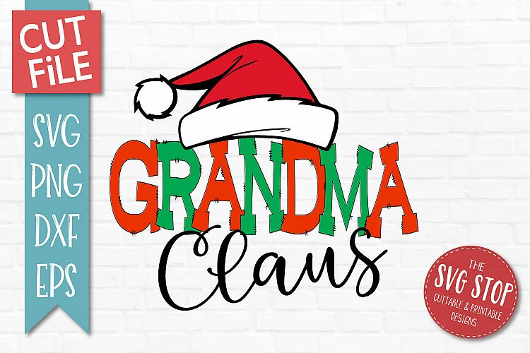 Download Grandma Claus Christmas SVG, PNG, DXF, EPS