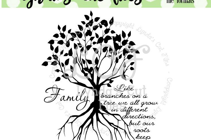 Download Family Tree//SVG/EPS/DXF File