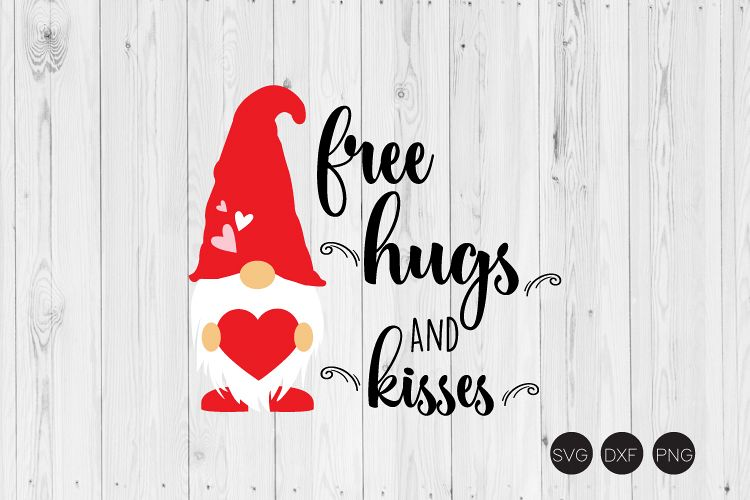 Download Free Hungs And Ksses SVG, Valentine Gnome SVG