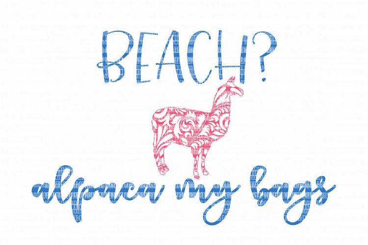 Download Beach Alpaca SVG Files for Silhouette and Cricut Design ...