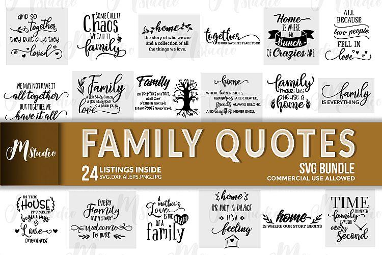 Download Family Quotes svg bundle (183848) | Cut Files | Design Bundles