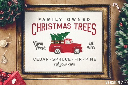 small resolution of vintage christmas tree truck sign svg magnolia tree farms example image 1