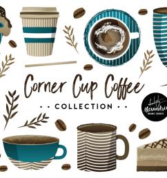 corner cup coffee clipart graphics digital paper patterns bundle example image 1 [ 1158 x 772 Pixel ]