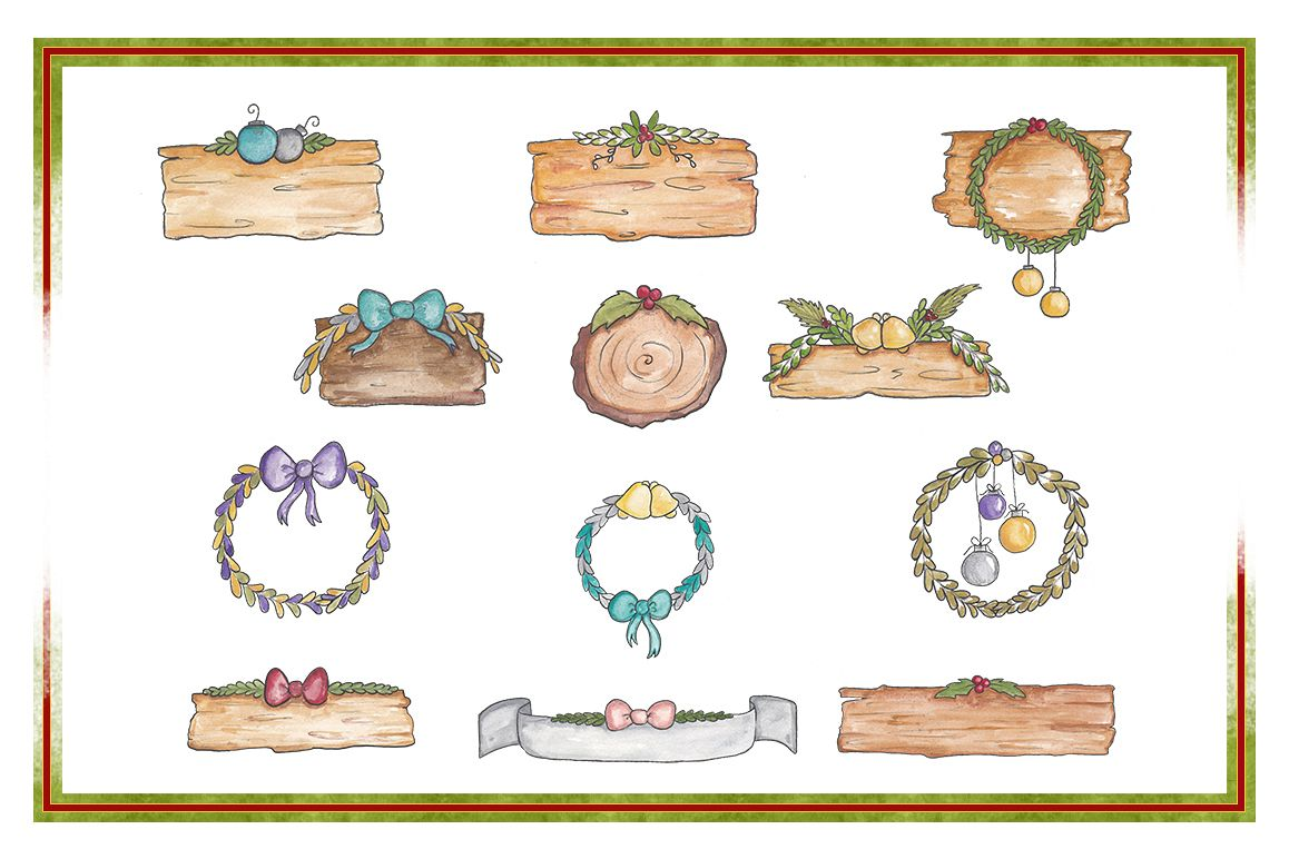 hight resolution of holiday clipart christmas clipart object clipart watercolor clipart banner clipart planner