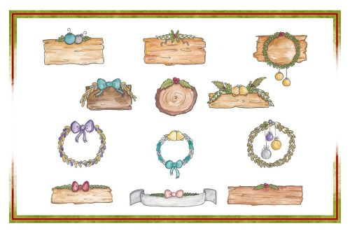 small resolution of holiday clipart christmas clipart object clipart watercolor clipart banner clipart planner