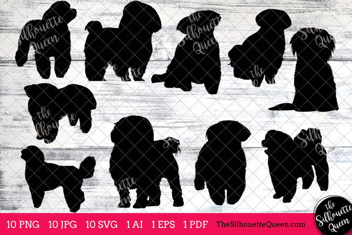 hight resolution of maltese dog silhouette clipart clip art ai eps svgs jpgs pngs